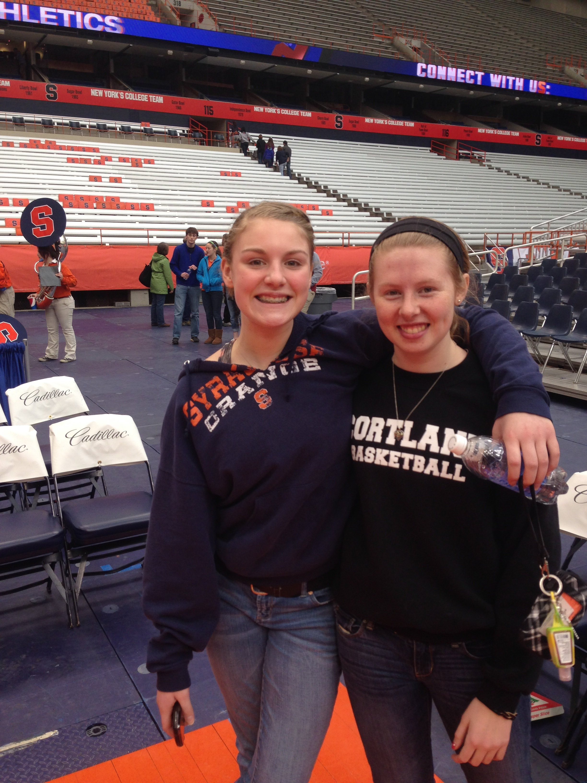 Gal pals at the Dome